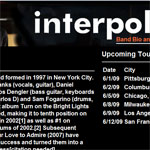 Interpol fan site example